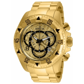 INVICTA  MODEL 24263 EXCURSION MENS QUARTZ 52MM GOLD CASE GOLD DIAL -