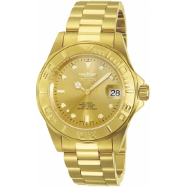 INVICTA MODEL 13929 PRO DIVER AUTOMATIC WATCH - GOLD CASE WITH GOLD TONE STAINLESS STEEL BAND -